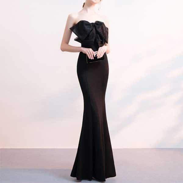 リボンベアトップドレス