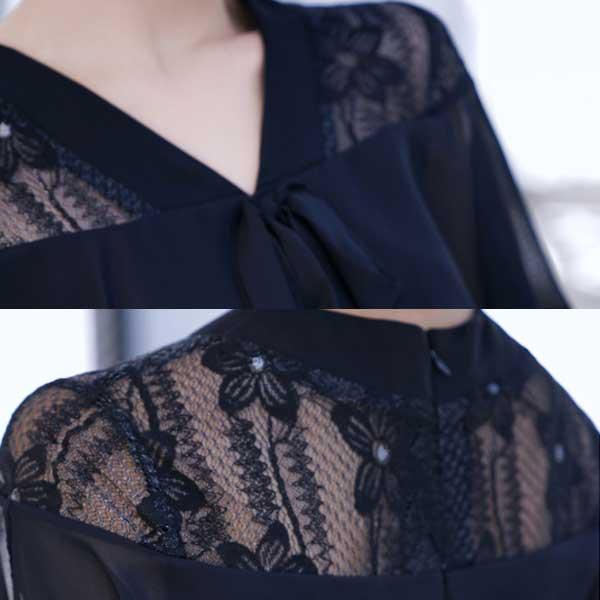 襟元と背中の拡大イメージ