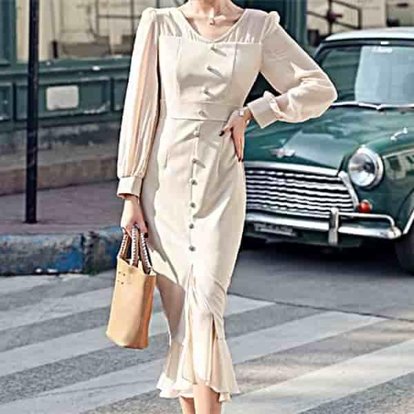 シフォン使いドレス