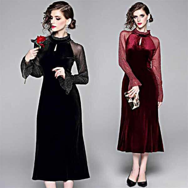 ベロアの可愛いいドレス