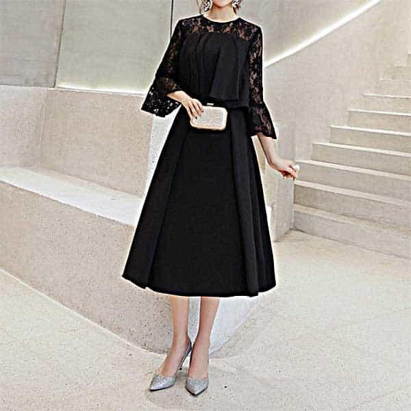 結婚式 披露宴にお勧め ブラックドレス