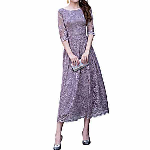 シンプル花柄ドレス