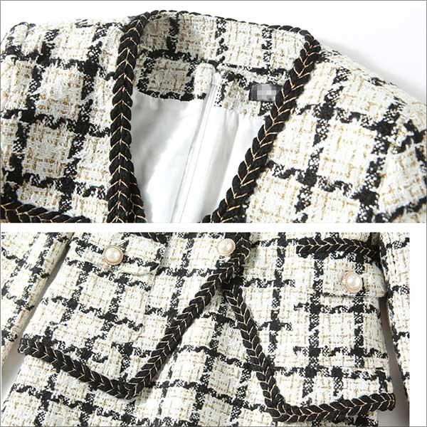 ジャケットの襟元などのイメージ