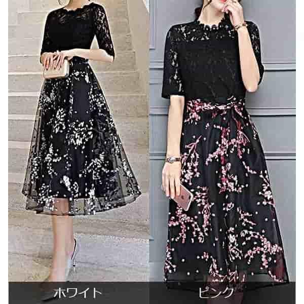 3L 4Lなど大きいサイズもあるドレス