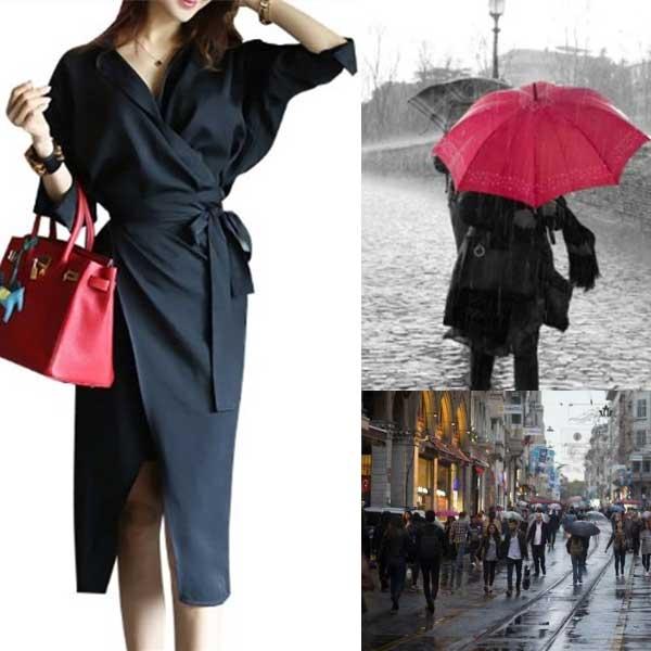 雨の日のワンピース・ドレス